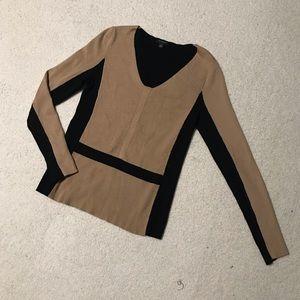 Ann Taylor Colorblock V-neck Sweater